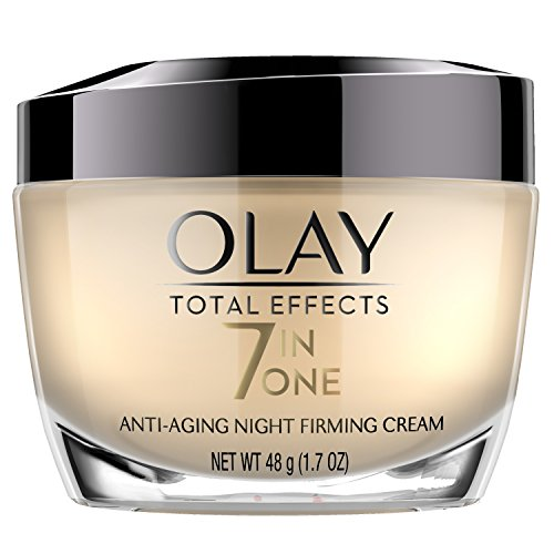 Night Cream by Olay Total Effects Anti-Aging Night Firming Cream & Face Moisturizer, 1.7 Fluid Ounce (Best Face Firming Products)