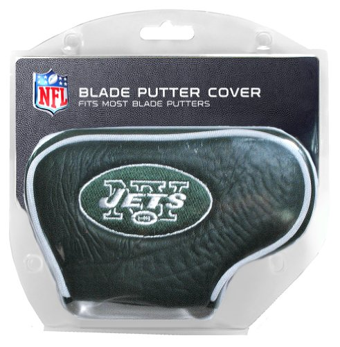 Team Golf NFL New York Jets Golf Club Blade Putter Headcover, Fits Most Blade Putters, Scotty Cameron, Taylormade, Odyssey, Titleist, Ping, Callaway ()