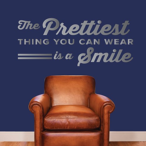 The Prettiest Thing You Can Wear Is A Smile. - 0356 - Home Decor - Wall Decor - Dental - Dentist - Teeth - Oral Hygiene - Happy - Smile - Positive