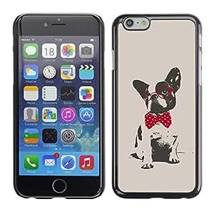 LOVE FOR Apple Iphone 6 Plus 5.5 Boston Terrier Pug Polka Dot Red Grey Personalized Design Custom DIY Case Cover