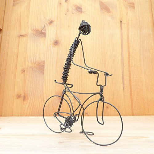 Man on the bicycle wire sculpture Handmade Handcrafted
