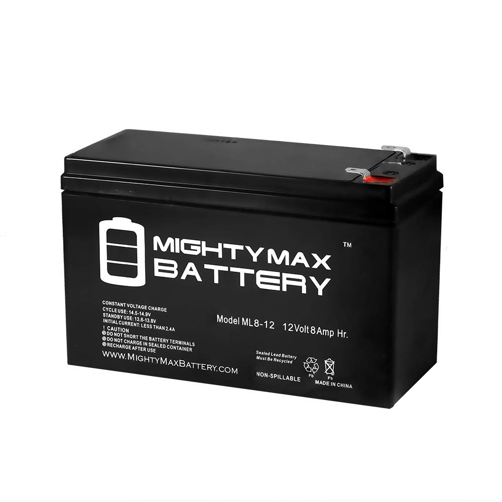 Mighty Max Battery 12V 8AH Replacement ES500 ES550 ES750G LS500 RBC110 PX12072 brand product