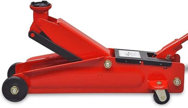 Universel Cric de plancher 3 T Hauteur de levage 140-432 mm Réparer une voiture