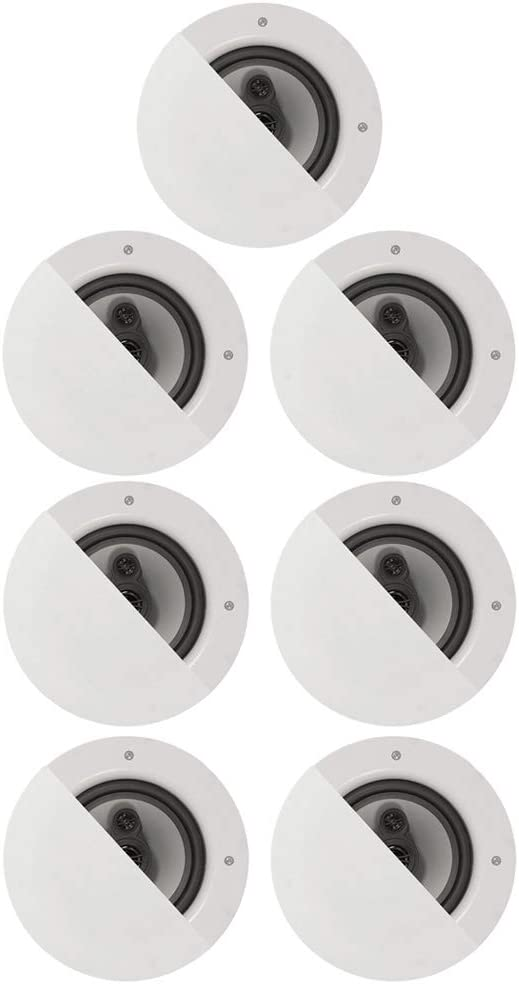 "Acoustic Audio CSic64 Frameless 6.5"" in Ceiling 7 Speaker Set 3 Way Home Theater Speakers"