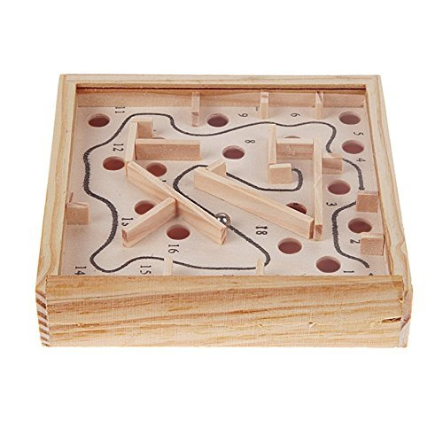 Children Educational Toys Wooden Puzzle Toys Brain Teaser Puzzle Toy Mini Maze Intellectual Development (Movies That Start With The Letter R)