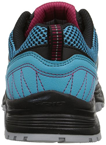 Saucony Womens Grid Excursion TR9 Trail Running Shoe azul, negro y rojo