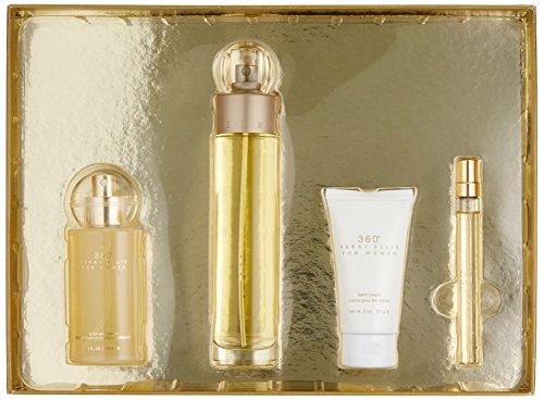 Perry Ellis Fragrances 4 Piece 360 for Women Gift Set, 3.4 Fluid Ounce