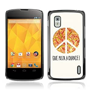 YOYOSHOP [Cool Pizza Piece Illustration] LG Google Nexus 4 Case