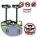 Best Animal Repellers - Outdoor Solar Powered Ultrasonic Animal Repeller Pest Repellent Review