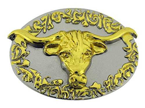 Bull Belt Buckle Gold Silver Metal Texas Style Rodeo Costume Fashion New Ox