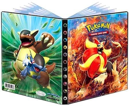 Ultra-Pro 4-Pocket Pokemon Card Binder/Portfolio ft. Pyroar and Kangaskhan from XY Flashfire (Holds 40-80 Cards)