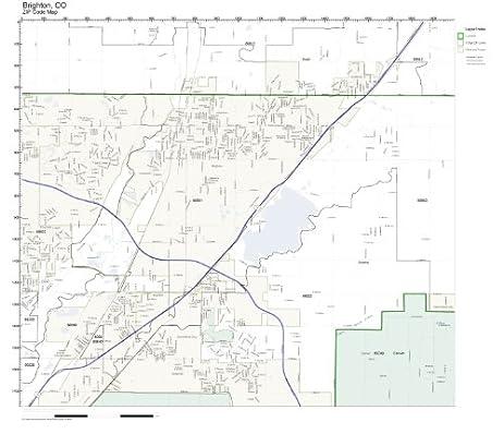 Amazoncom ZIP Code Wall Map Of Brighton CO ZIP Code Map - Colorado zip code map