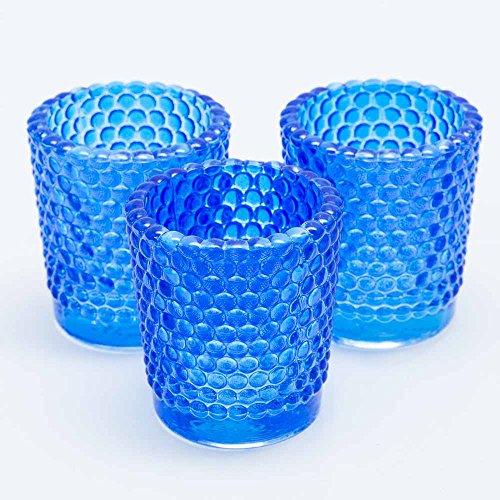 (Richland Votive Candle Holders Hobnail Blue Set of)