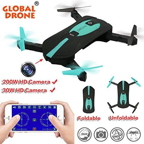 LENRUE JY018 Elfie Mini Drone Bolsillo Plegable WiFi Control De Teléfono Quadcopter con Cámara WiFi HD De MP RC Helicóptero como GW018 Vs JJRC H37