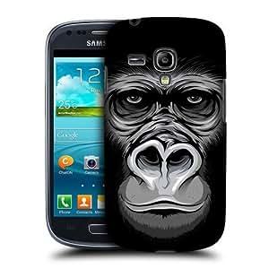 AIYAYA Samsung Case Designs Big Gorilla Big Face Illustrated Protective Snap-on Hard Back Case Cover for Samsung Galaxy S3 III mini I8190