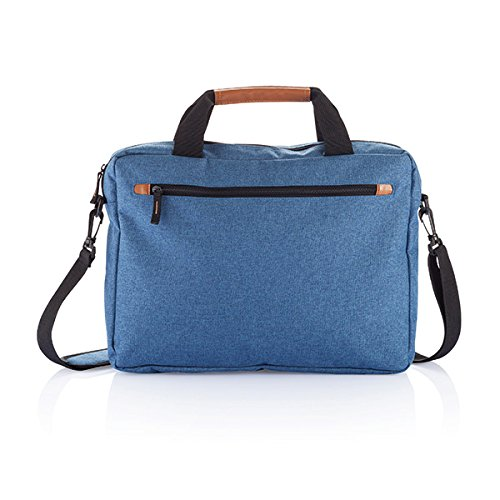 XD-Tone Duo-Borsa Messenger per Laptop, 40 cm, 20 l, colore: blu