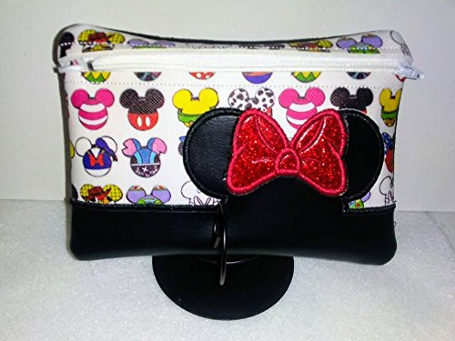 Miss Mouse Cast of 1000's 6 x 10 Inch Zipper Pouch Coin Purse Makeup Bag Wristlet