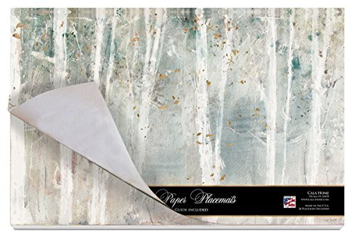 Cala Home 24-Pack Disposable Paper Placemats, Woodland Walk