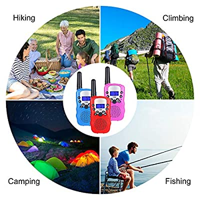 UEU Kids Walkie Talkie Boys Toys for 3-12 Years Old Boys and Girls Present for Christmas Suitable for Outdoors Indoor 1-3 km 22 Channel FRS Toy for Kids (Blue) (Pink): Car Electronics