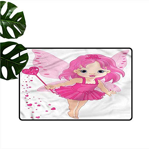 Modern Door mat Princess Little Baby Magic Wand Easy to Clean Carpet W16 ()