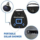 EasyGo Camp Shower – 5 Gallon Portable Shower – Solar Heated Camping Water Bag with Heavy Duty Handle and Buckle Clip for Easy Hanging – No Shower Pump Needed