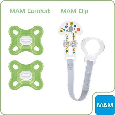 MAM Comfort X-Small 0+ Chupete Unisex de silicona médica 100 ...