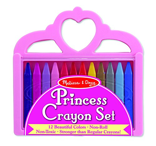 - Melissa & Doug Princess Crayon Set - 12 Colors