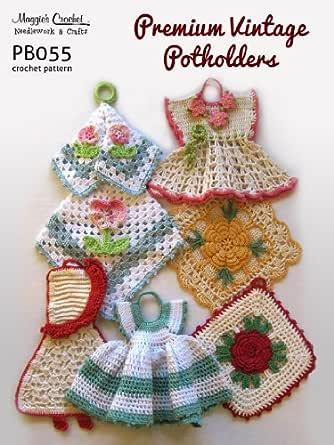 5 Vintage Crocheted Potholders