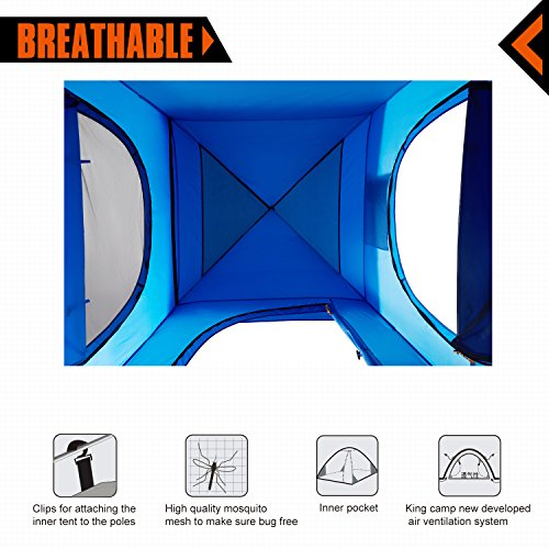 KingCamp Oversize Outdoor Easy Up Portable Dressing Changing Room Shower Privacy Shelter Tent