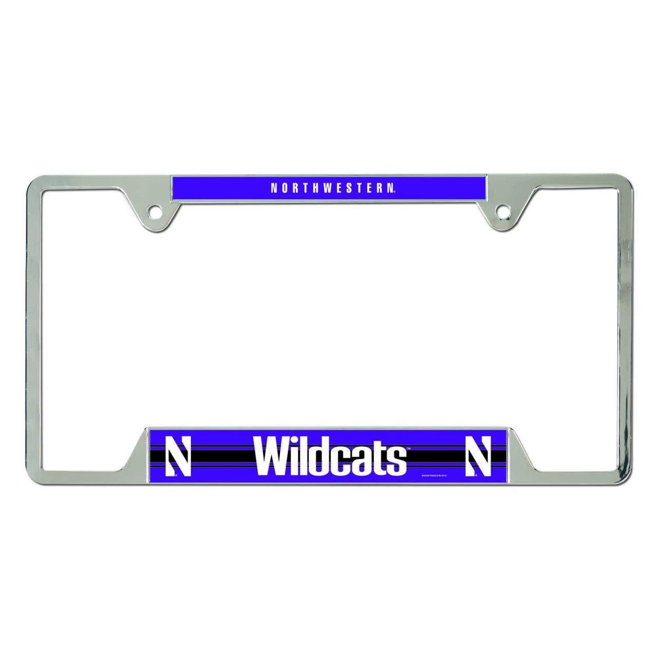 Northwestern Wildcats Metal License Plate Frame