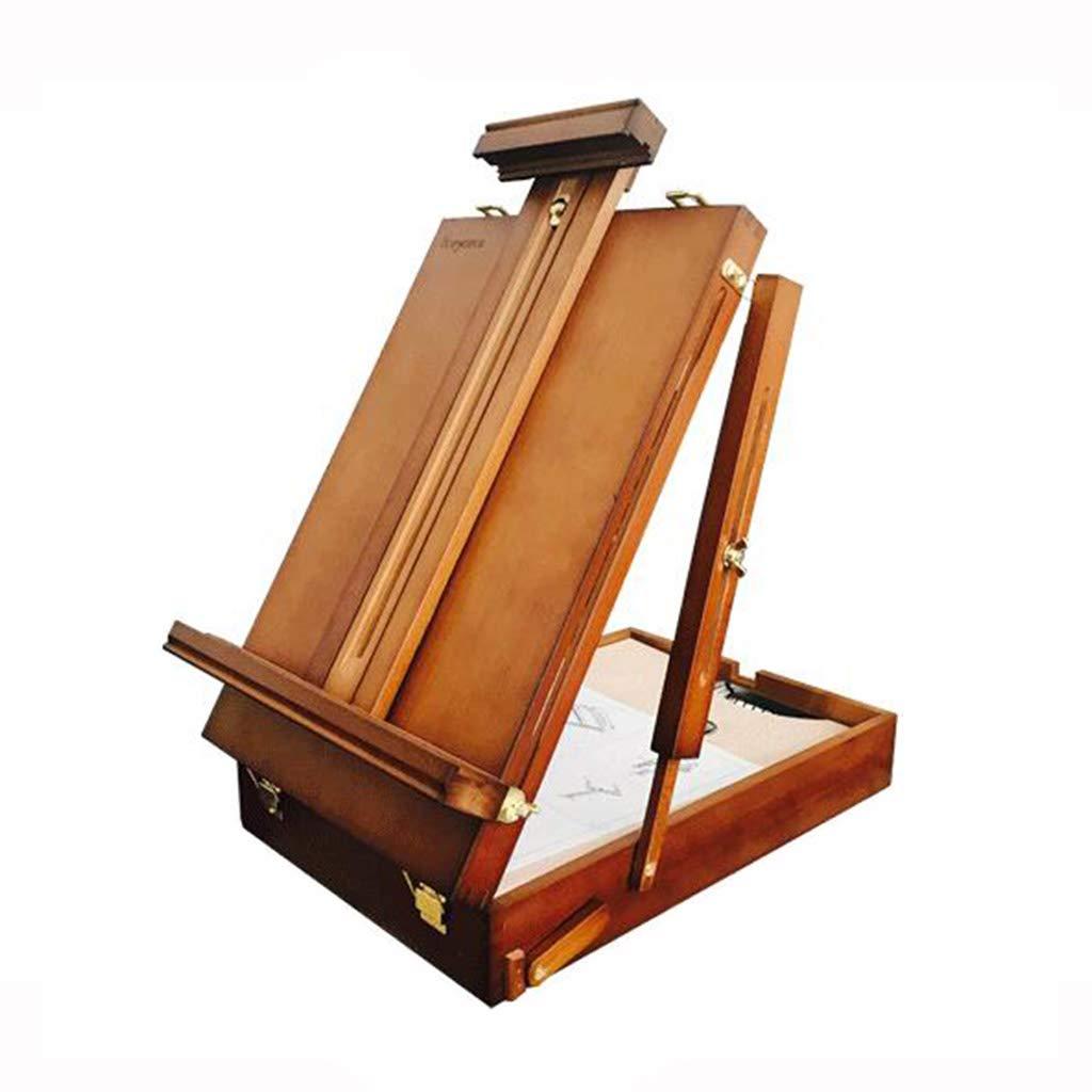 Cavalletto da Tavolo in Legno massello, cavalletto Portatile per Pittura ad Olio Studente cavalletto Pieghevole Pieghevole Adulto (Dimensioni   45  30  10CM)