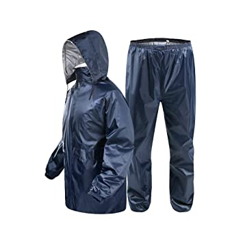 Relaxbx Hombres Mujeres Impermeable Moto Impermeable ...