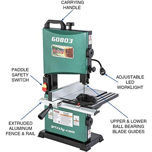 Grizzly Industrial G0803-9'' Benchtop Bandsaw by Grizzly Industrial (Image #3)