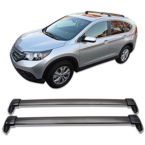 Cross Bars Fits 2012-2016 HONDA CRV | OEM Style Aluminum Black Roof Top Bar Luggage Carrier by IKON MOTORSPORTS | 2013 2014 2015
