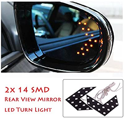 2 Pcs 14 SMD LED Arrow Panel for Car Rear View Mirror Indicator Turn Signal Light: Automotive