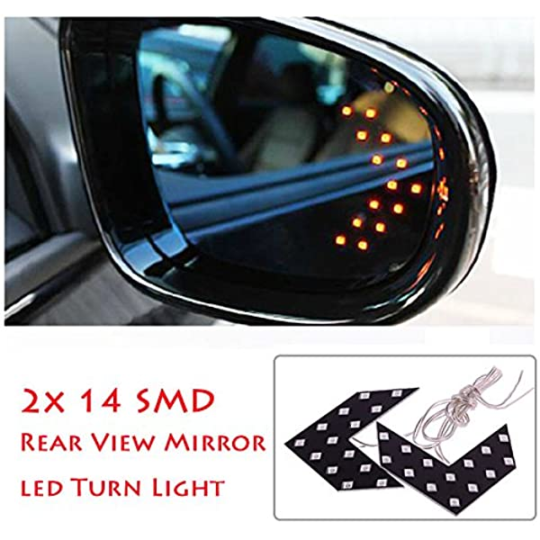 Eiyeckn Car Rear View Mirror Turn Signal Light Tool Accessories Side Mirror Indicator Turn Signal Repeater LED Lamp for Chevrolet Captiva Left and Right