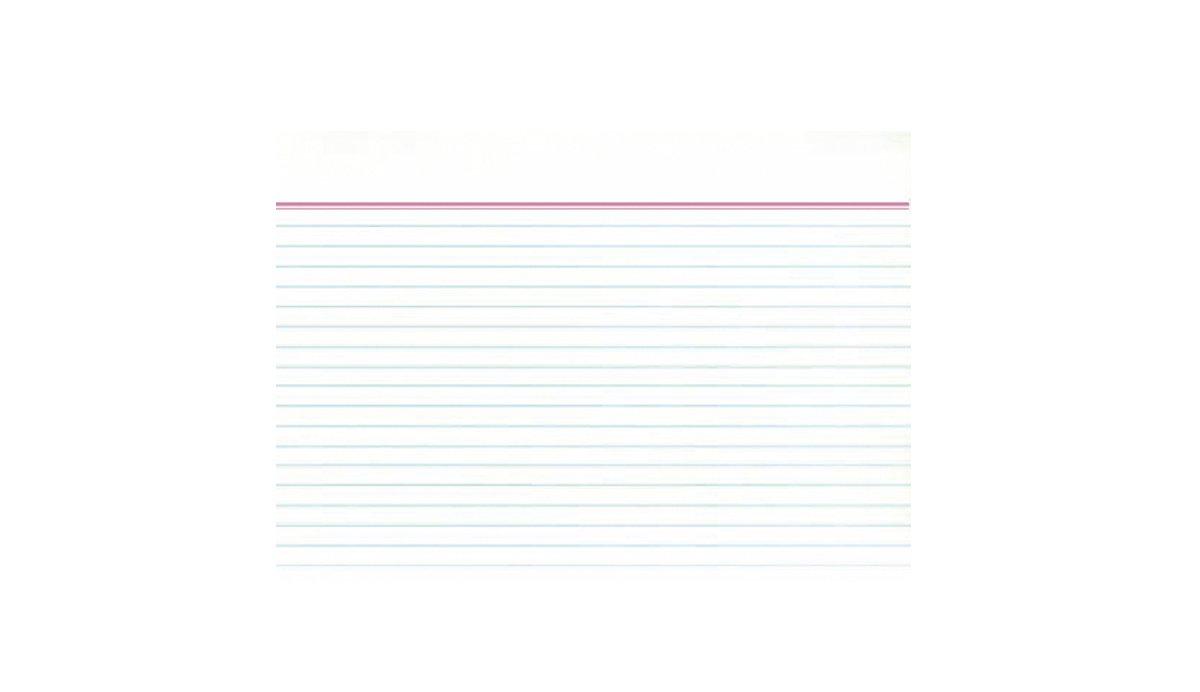 Idena 375035 - Fichas para notas (A5, a rayas, 100 unidades),
