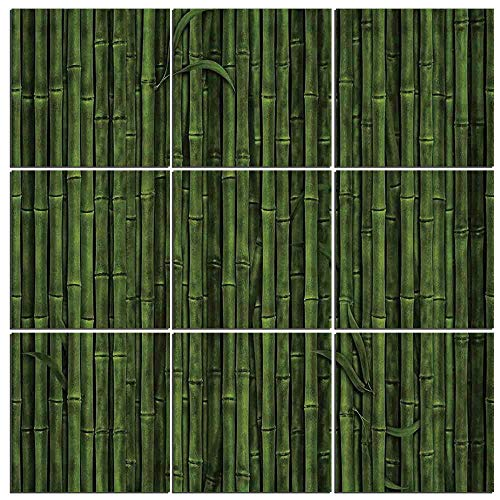 iPrint 9 Pc Wall Art Set Bamboo,Lined Up Tall Bamboo Stems Sticks Growth Environment Ecology Diversity of Universe Image 9 (Diversity Poster Pack)