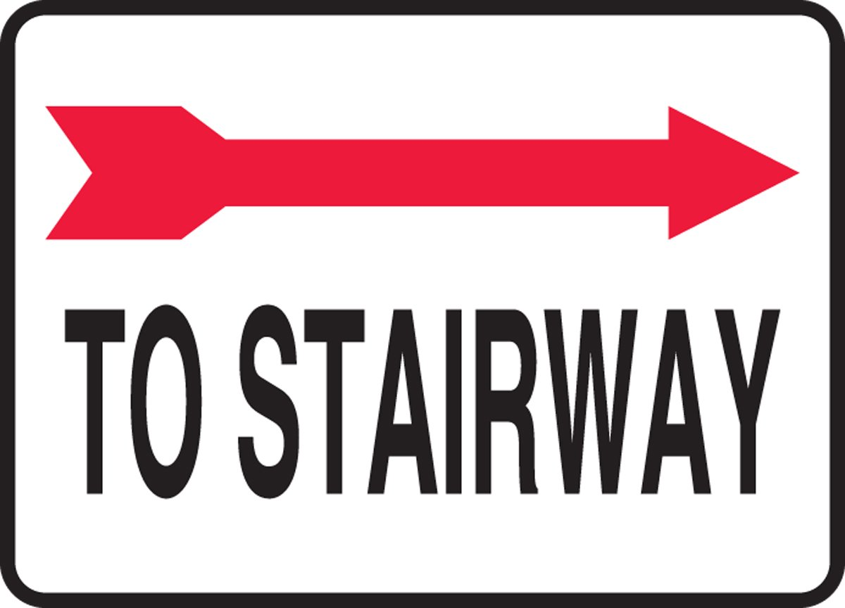 Accuform TO STAIRWAY (ARROW RIGHT) (MADC516XL)