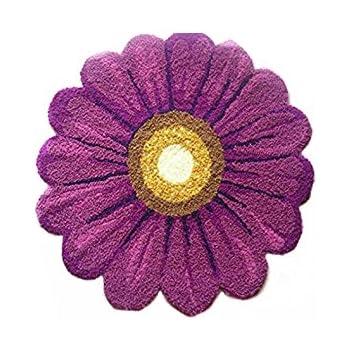 Amazon Com Ustide Purple Floral Area Rug Swivel Chair Mat