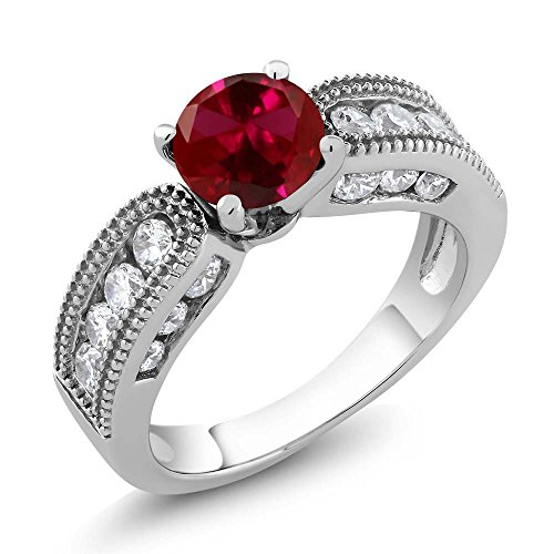 vintage ruby engagement rings - 5