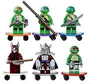 TMNT 6 Pcs Set Teenage Mutant Ninja Turtles Action Mini Figures Building Toy Compatible With Lego