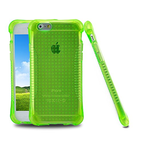 iPhone 5S Case, [Slim Shockproof] [COOL GREEN] Soft Silicone Gel Rubber Case Flexible TPU ed Bumper Case Skin Cover for Apple iPhone 5 5S