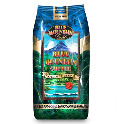 Gourmet Coffee Blue Mountain - Blue Mountain Gourmet Blend Whole Coffee Beans - 2 Lb Bag