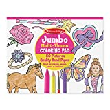 Melissa & Doug Jumbo 50-Page Kids' Coloring Pad - Horses, Hearts, Flowers, and More