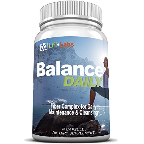 Balance-Daily-Fiber-Probiotic-Detox--Your-Daily-Pure-Maintenance-Cleanse-with-Fiber-and-Probiotic-to-Eliminate-Toxins-and-Lose-Weight-Maximum-Strength-and-Doctor-Recommended--90-Capsules