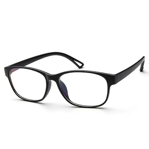 hibote Hombres Mujeres lente clara Geek / Nerd Retro Wayfarer Gafas #Xier