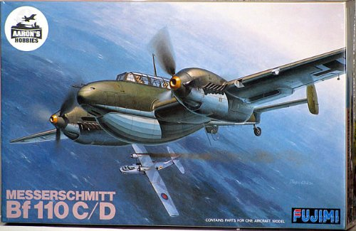 World War II Fujimi Messerschmitt Bf 110 C/D 1/48 Scale Plastic Model (japan import)