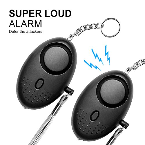 Safesound Personal Alarm Emergency Alarm Devices 2 Pack Personal Alarm for Kids, Women, Elderly, with Led Light, Keychain, Personal Safety and Self-defense Alarms with Clip (Best Pepper Spray For A Woman To Carry)