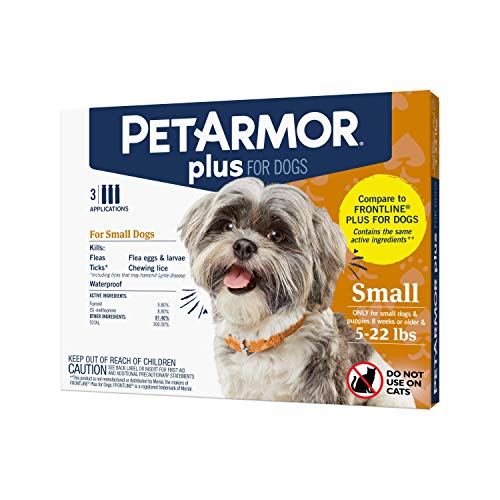 PETARMOR Plus for Dogs Flea and Tick Prevention for Dogs LongLasting amp FastActing Topical Dog Flea Treatment 3 Count Small